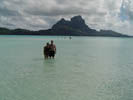 Irma and Jeff off Motu at Bora Bora