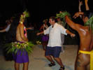 Jeff Doing a Tiki Dance, Tiki show at le Maitai, Bora Bora