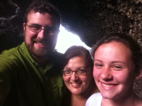 Us in a Lava Tube on Maui