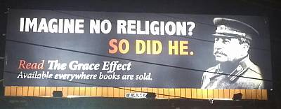 Anti-Atheist Stalin Billboard