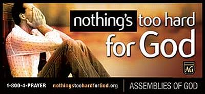 Nothing's Too Hard for God Billboard