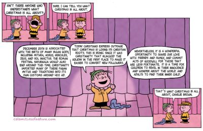 Calamities of Nature Comic on Charlie Brown Christmas