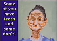 Hovind's Toothless Old Lady Slide