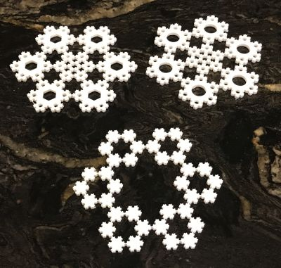 Koch Snowflake Ornaments