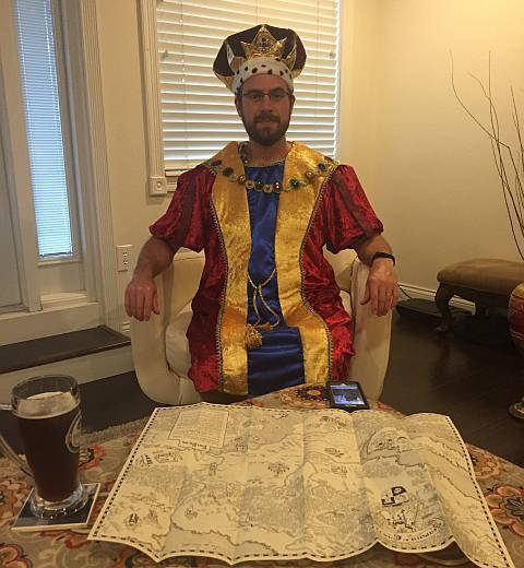 Lord Jeff the Wise on his throne