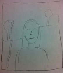 Jeff's Mona Lisa Sketch