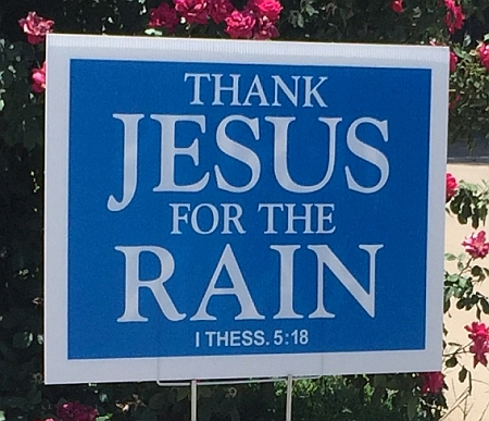 Thank Jesus Sign