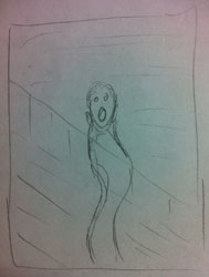 Jeff's The Scream Sketch
